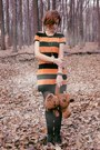 Carrot-orange-striped-george-dress-bronze-nightmare-before-christmas-watch