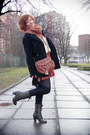 Brick-red-stars-graffic-dress-off-white-knitted-george-sweater