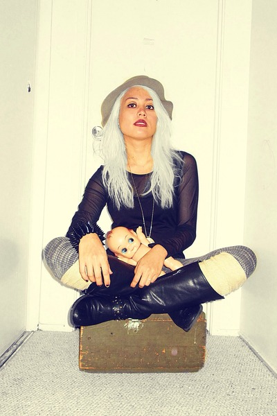 H&M hat - Ross leggings - merona socks - Alegra K top