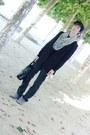 Silver-asos-scarf-black-h-m-blazer-black-laredoute-jumper-dark-gray-zara-j
