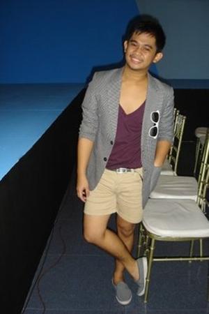 blazer - Topman shorts - c2 shirt - Keds shorts