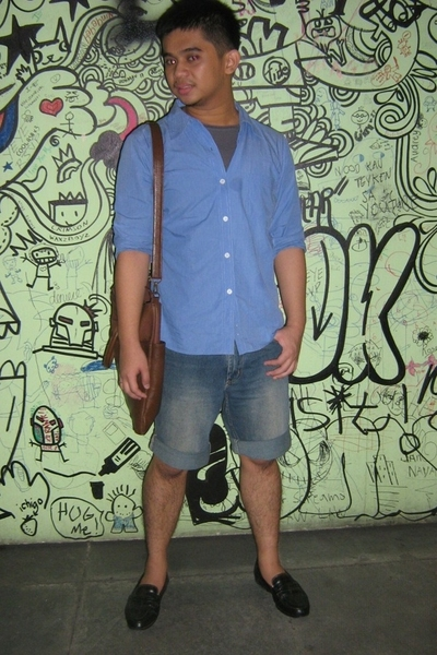 Topman shirt - REPLAY jeans - Michael Bastian shoes - F&H purse - Zara t-shirt