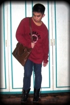 Old Navy sweater - Gap jeans - Aldo boots