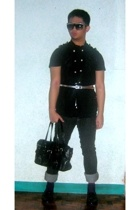 Zara shirt - Freeway vest - People are People belt - Topman pants - Aldo purse -