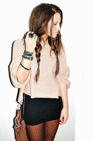 Bershka bag - Accessorize accessories - Zara skirt