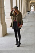 Calzedonia coat - Zara boots - Pimkie shirt - Zara bag - Accessorize glasses