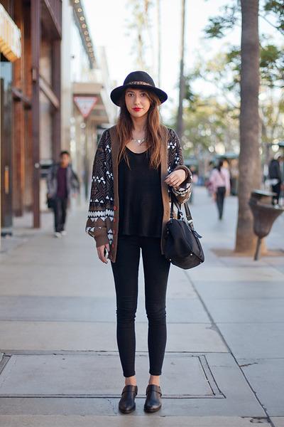 black Mango bag - black Zara pants