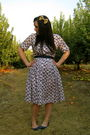 Blue-vintage-dress-blue-urban-outfitters-shoes-beige-etsy-accessories
