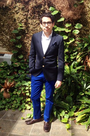blue banana republic pants - navy H&M blazer