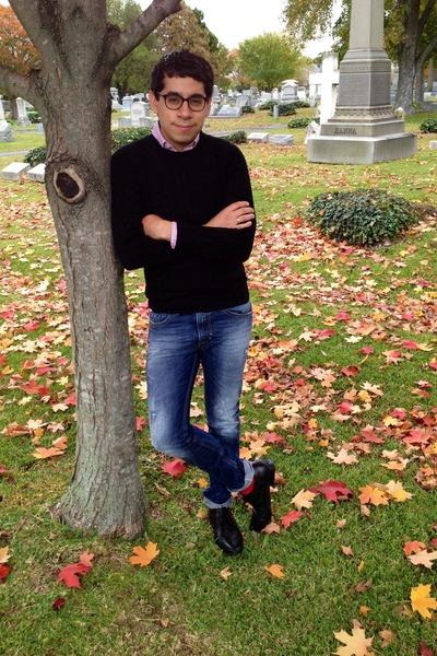 black Topman jumper - navy Diesel jeans