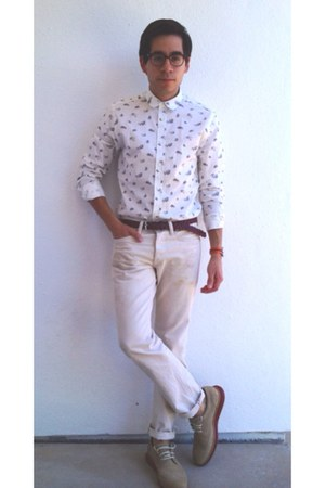cream ASOS Print shirt