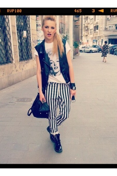 Terranova t-shirt - Dr Martens boots - H&M jeans - H&M blazer - Croptown bag