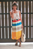 white What A Girl Wants skirt - off white Muji bag - red Accessorize accessories