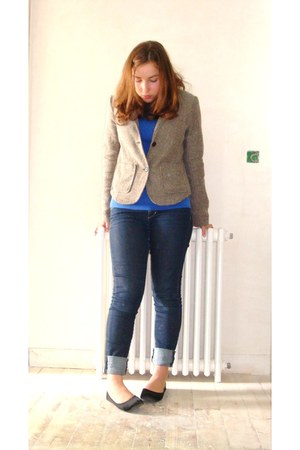 H&M jeans - Ikks jacket - Bendel top