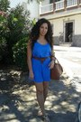 Blue-sfera-dress-brick-red-primark-bag-brick-red-primark-belt