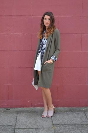 Glamorous coat - AKA shirt - lavish alice shorts - Topshop heels