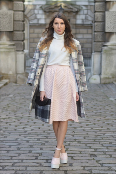 asos bag - asos coat - Topshop skirt - River Island heels