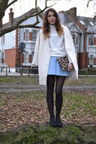 Front Row Shop coat - whistles bag - Zara skirt