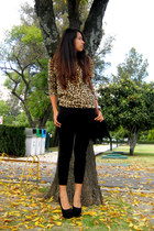 black Local store heels - camel leopard print Local store sweater