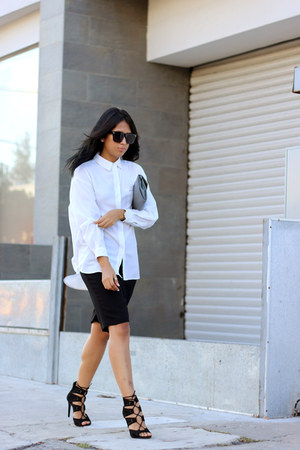 black Local store sunglasses - white thrifted shirt