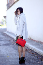ivory wool Marc by Marc Jacobs sweater - black neon Zara boots