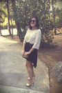 Vintage-sunglasses-leather-heels-eggshell-lace-h-m-blouse-black-zara-skirt