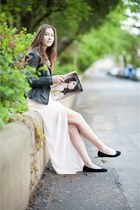 black H&M shoes - black Pimkie jacket - light pink Bershka skirt