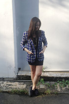 comfortable creepers shoes - H&M dress - Thrift Store blazer