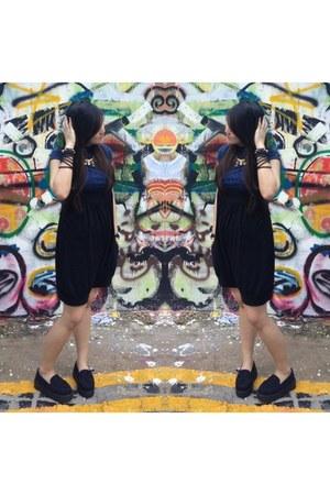 top - shoes - black cotton romper