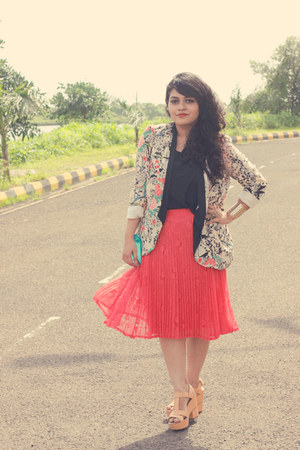 carrot orange asoscom skirt - Zara blazer