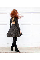 Barneys boots - vintage Betsey Johnson dress - vintage necklace