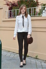 Dark-brown-refresh-shoes-white-lefties-shirt-dark-brown-luxurissme-bag