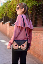 camel Mulaya bag - black DaDa shoes - pink Lefties sweater