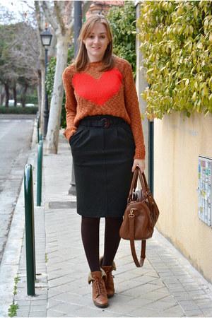 tawny Oasis sweater - brown Vogue & LV boots - brown Mulaya bag