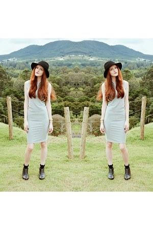 Forever 21 dress - fedora Forever21 hat - ruffled Forever 21 socks
