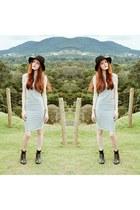 Forever 21 dress - fedora Forever21 hat - ruffled Forever 21 socks