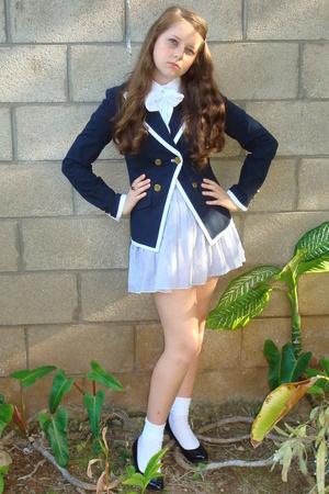 neiman marcus blazer - American Eagle blouse - American Eagle skirt - H&M shoes