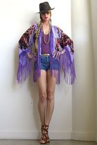purple Girl On A Vine cardigan