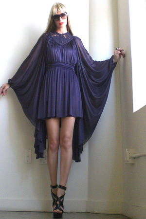 purple vintage GirlOnAVineetsycom dress