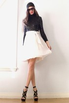 black vintage dress - black michael antonio shoes
