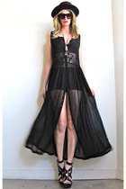 black sheer Girl On A Vine dress