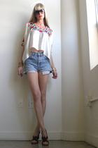 white GirlOnAVine blouse