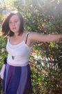 Purple-ever-pretty-dress-white-dotti-shirt-black-vintage-shoes-purple-ever