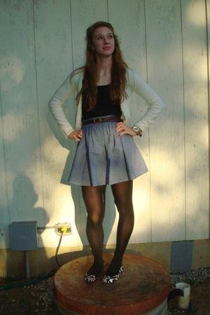 black Target tights - black Charlotte Russe shoes - blue American Apparel skirt