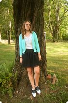JCrew cardigan - Urban Outfitters blouse - H&M shoes - vintage shorts - Forever