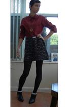 Topman shirt - vintage skirt - new look shoes
