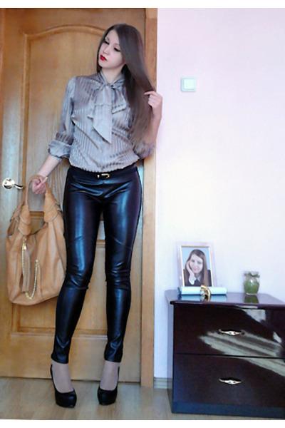 Leather Leggings Heels