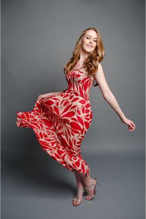 red printed Sway dress