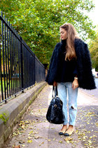 old Zara jeans - YSL bag - Chanel flats