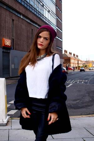vintage Saint Laurent coat - H&M pants